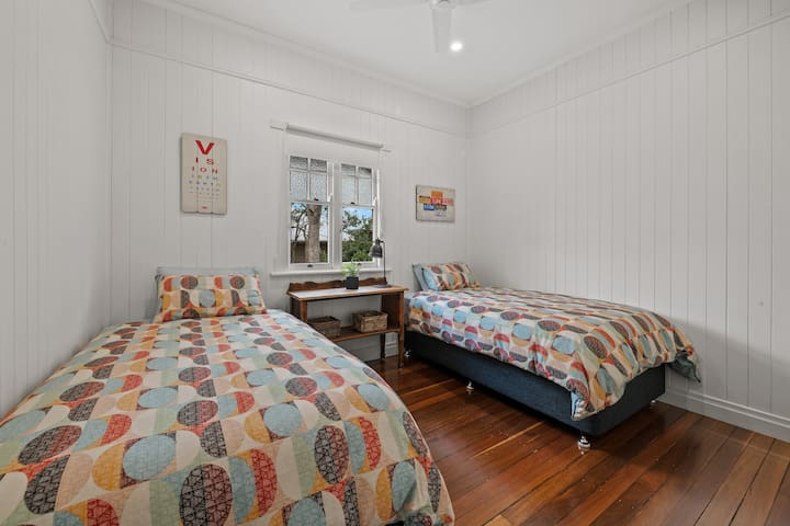 Second Bedroom with king single beds