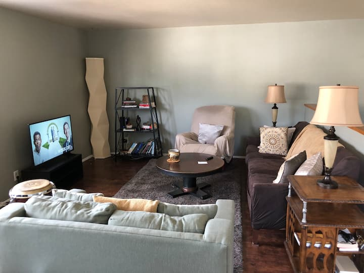 Large, Private 1 bedroom apartment with laundry.