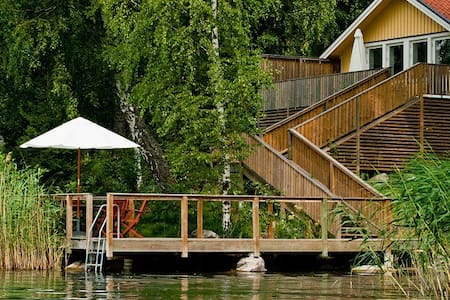 Lake house 45 sqm with private beach