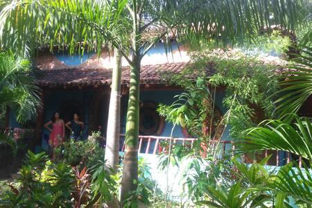casa peculiar con mucha vegetación - Pochomil