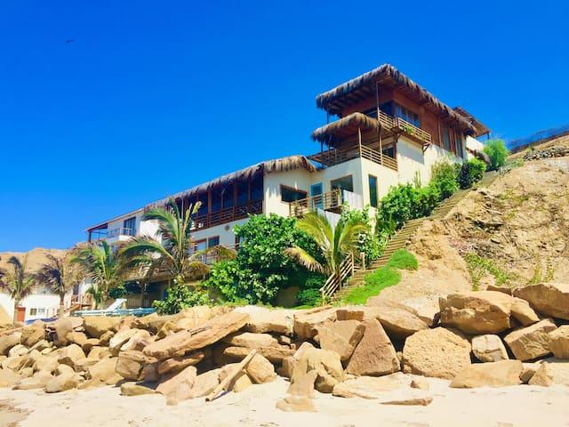 Casa Flamenco en la playa con piscina, un paraíso!