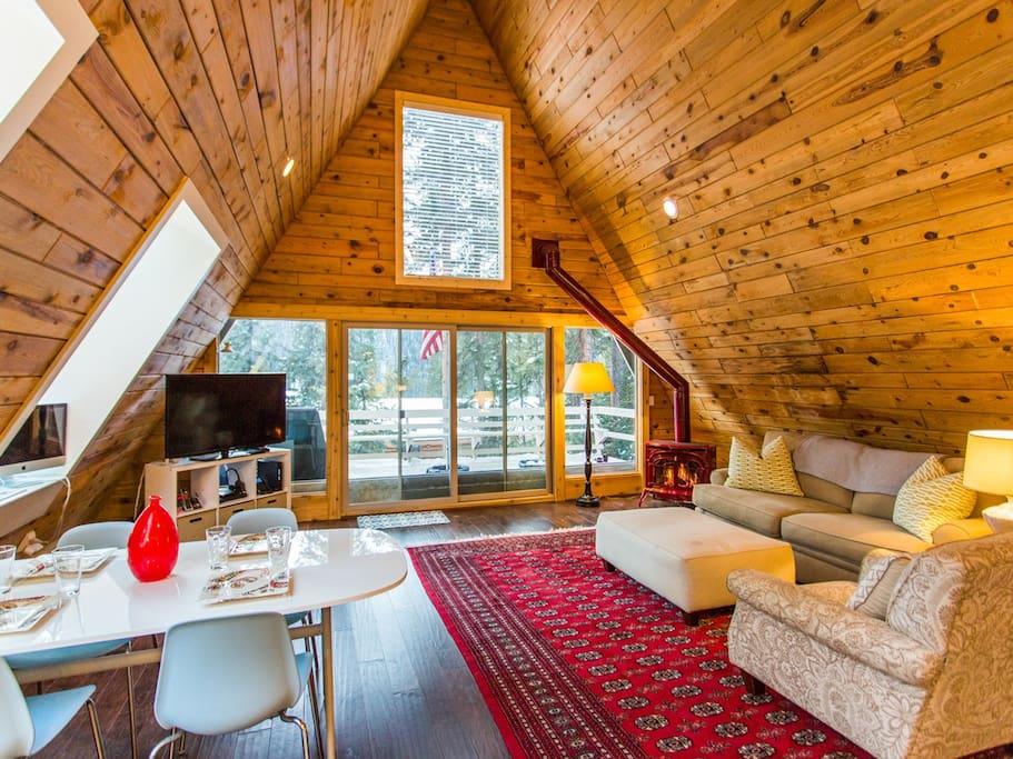 Charming modern a frame w breck parking spot for Affitti cabina colorado breckenridge