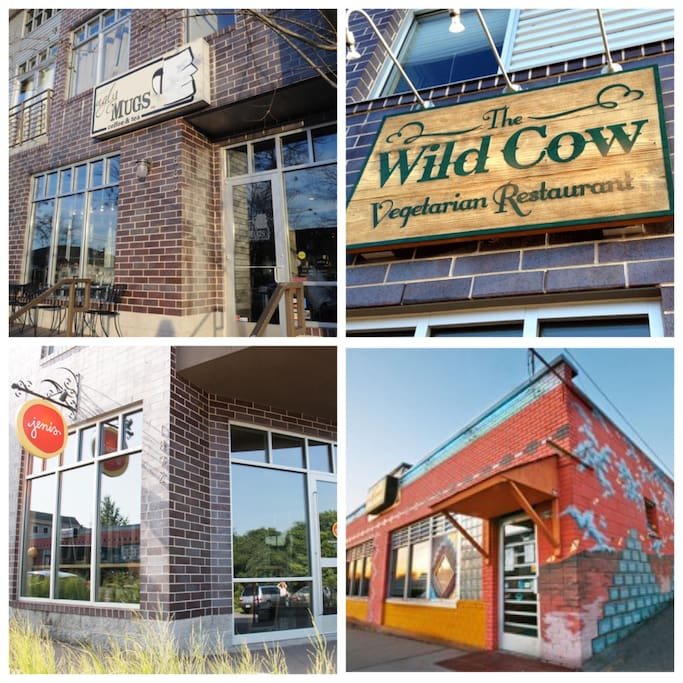 Popular restaurants and cafes walking distance from the house!