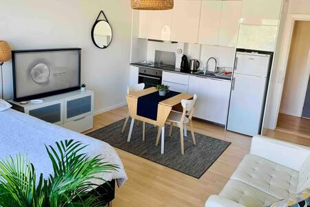 Studio (own entrance, kitchen, bathroom & balcony)