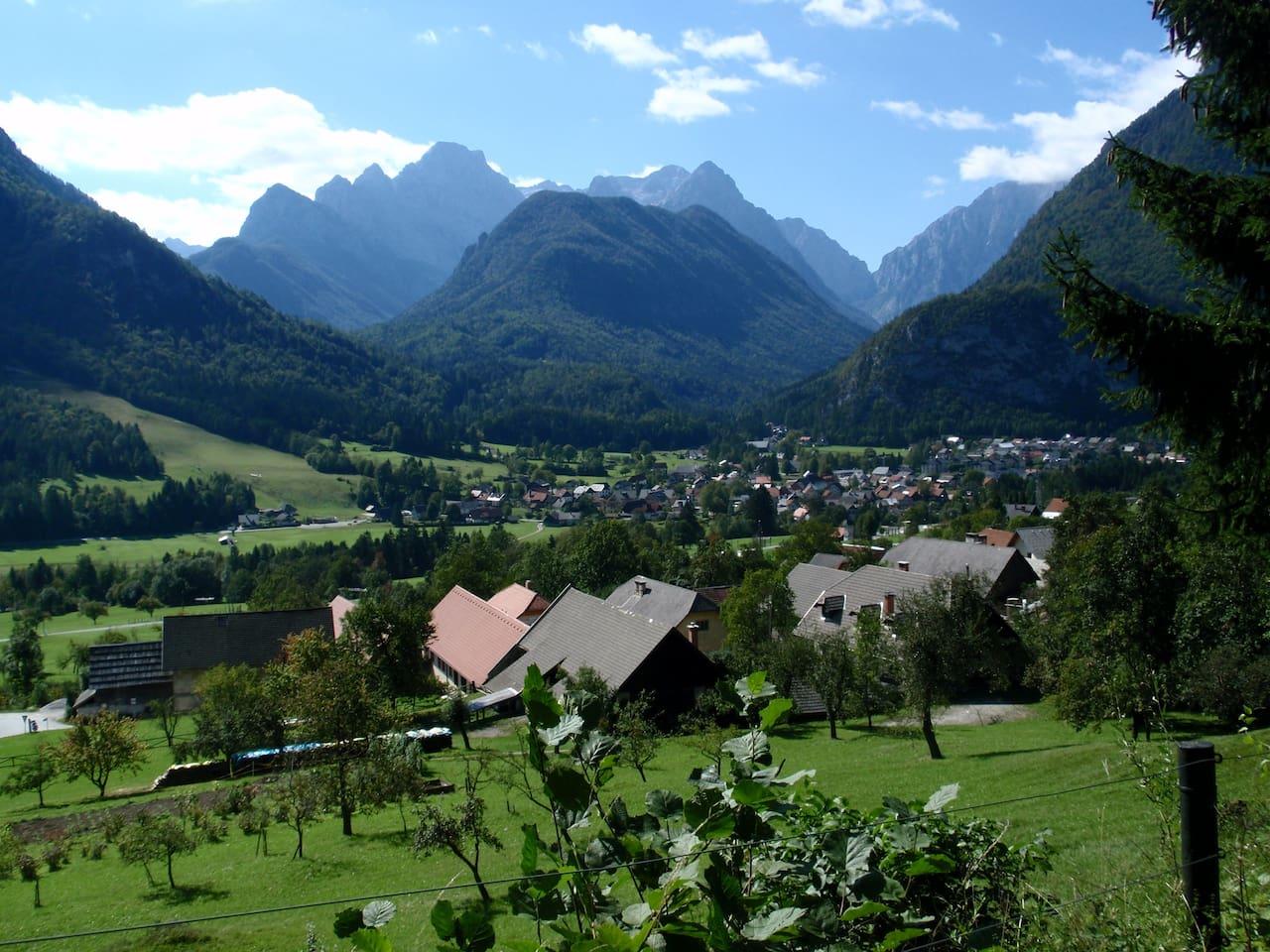 Villages Dovje and Mojstrana