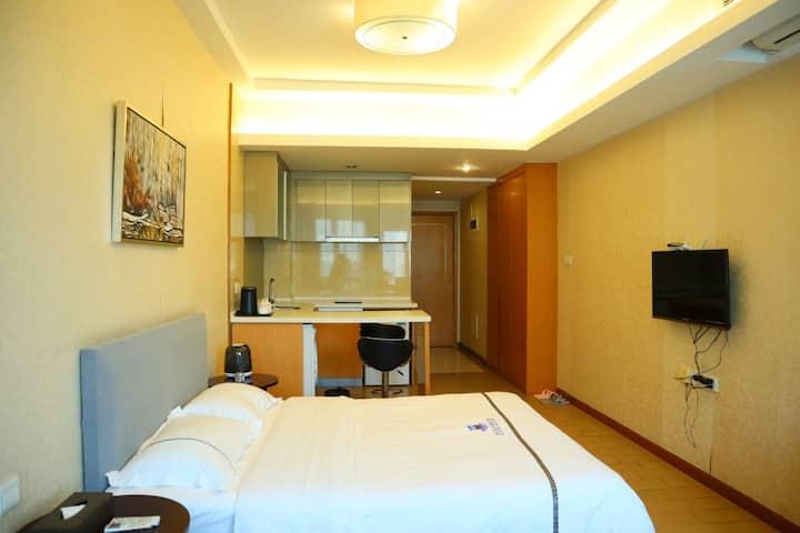 【世纪双子/一居室】1米5床、有冰箱、洗衣机、长租包月优惠
