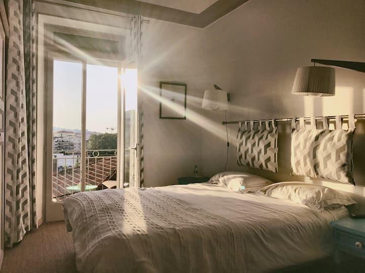 Villa du Roc Fleuri CANNES: chambre 5 double