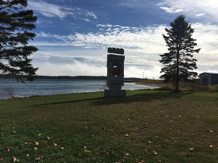 Lubec's Schoodic Sculpture at the town's Stockford Park - outside your door!