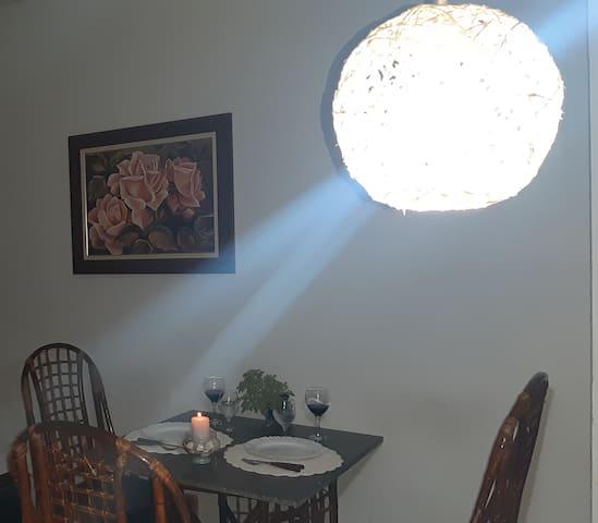 Ambiente na sala para jantar