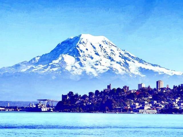 View of Beautiful Mount Rainier