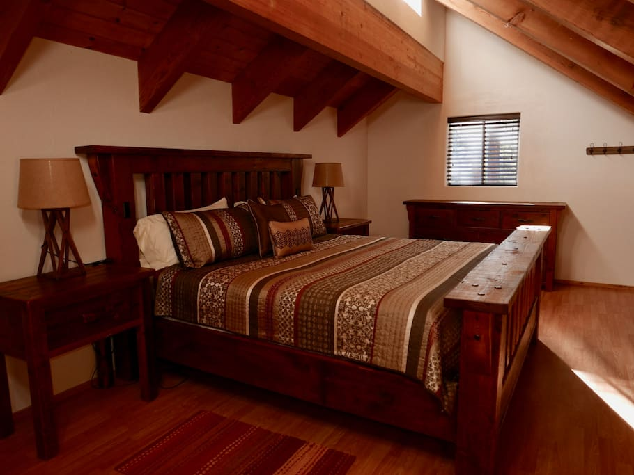 Rustic King Bed Upstairs