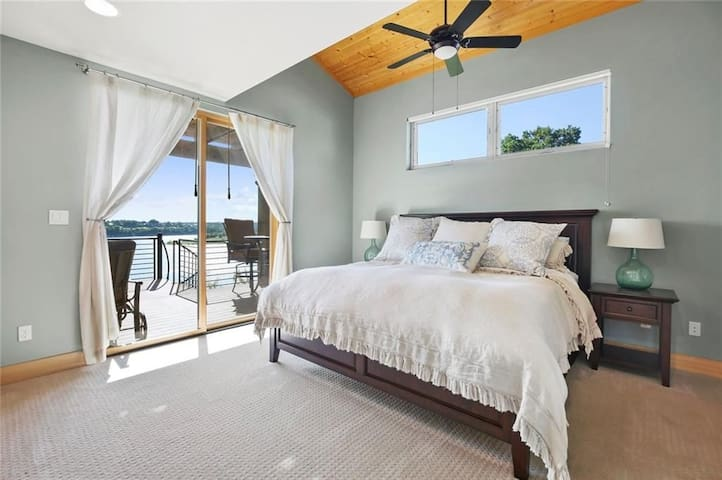 Master king size suite with private patio on second floor