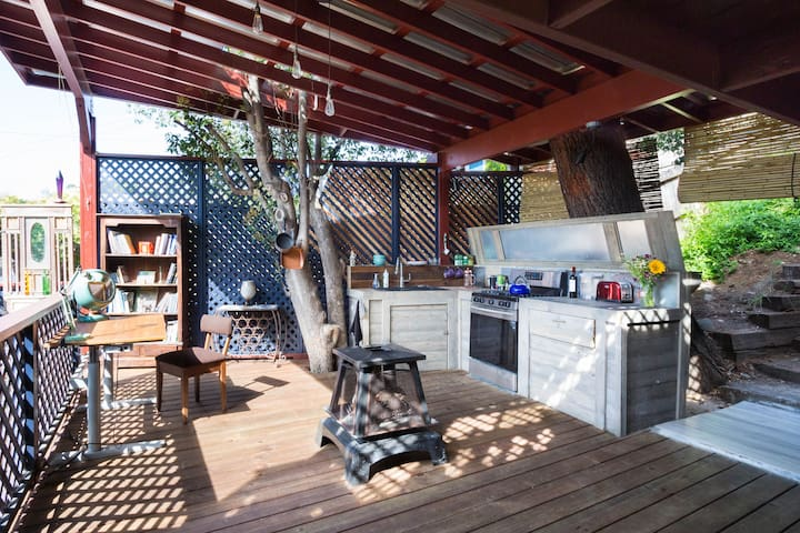 Kitchen and hangout area