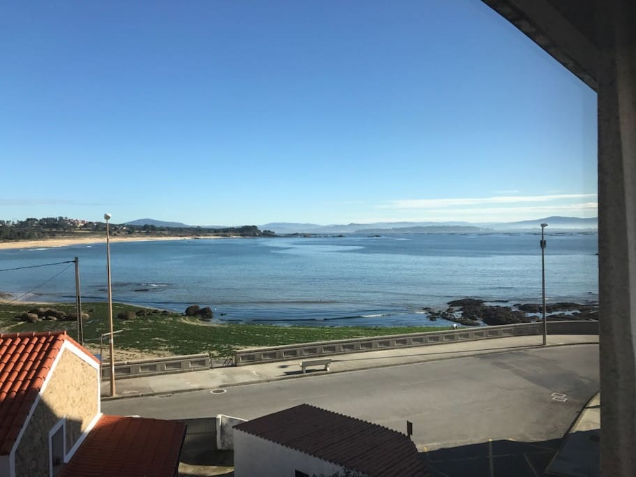 View from the living room at low tide