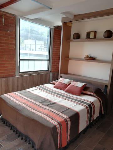 Hermosa habitación estilo Cabaña