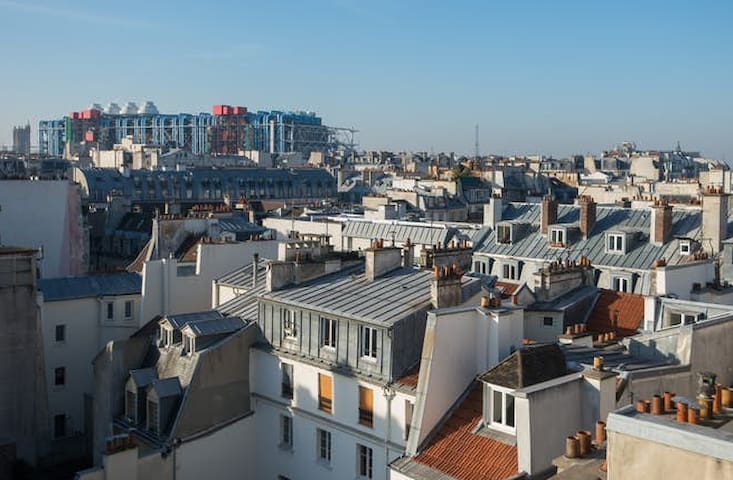 From the windows: Beaubourg museum