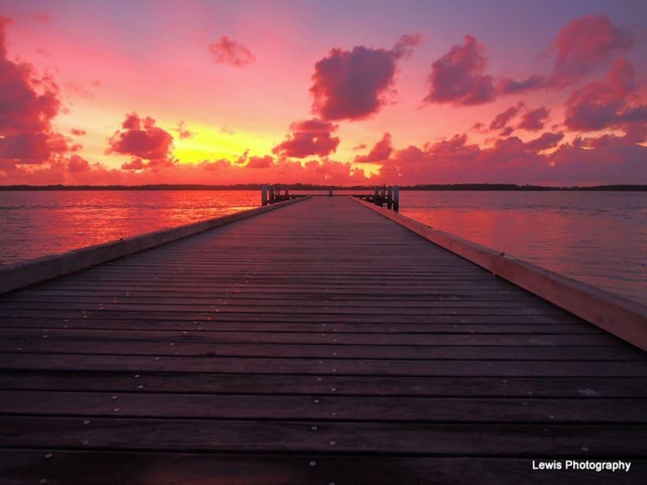Sunrise @ Military Jetty, Pumicestone Passage, Caloundra