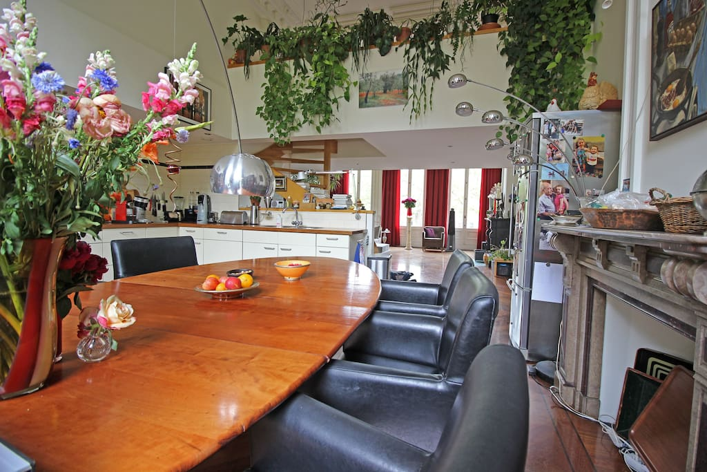 Enjoy delicious meals at this big dining area