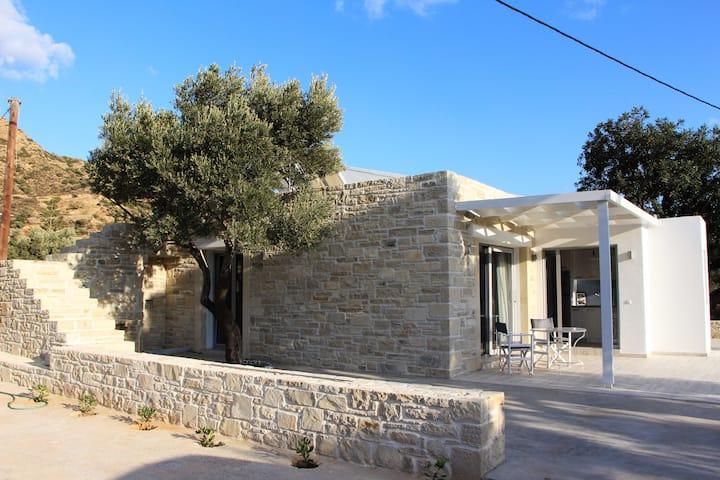 Ferienhaus im Olivenhain 200 Meter vom Naturstrand