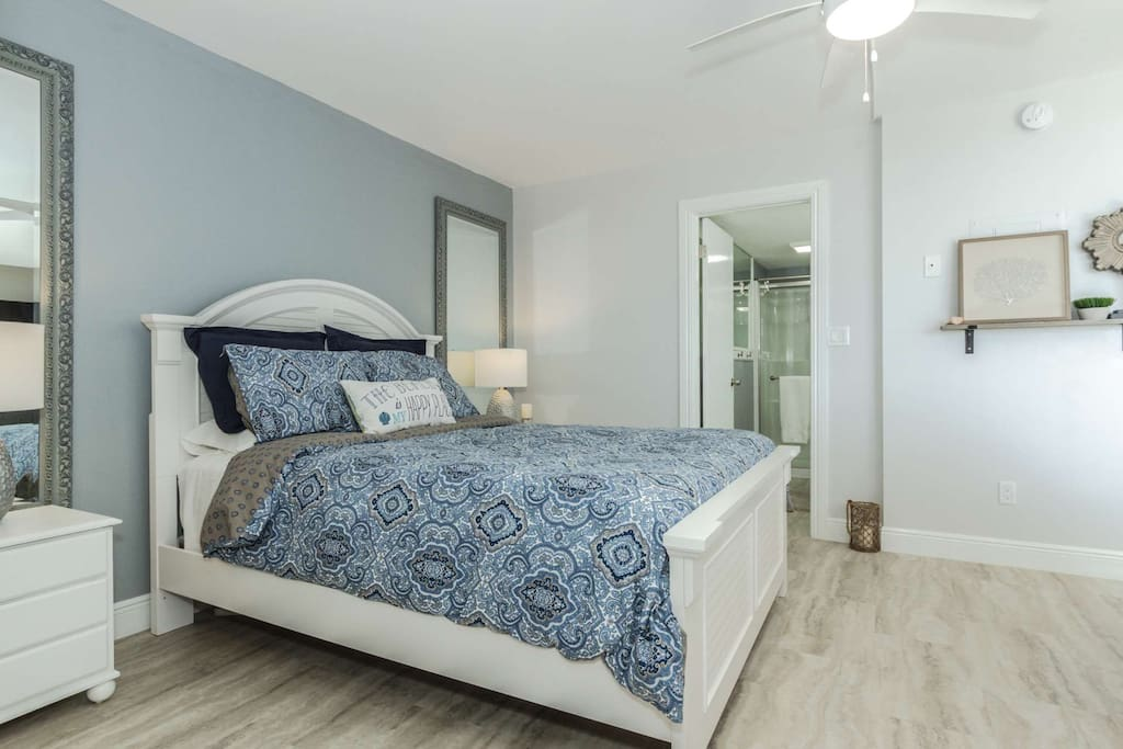 Elegant and luxurious, you will thoroughly enjoy the queen size master bedroom and adjacent master bath.