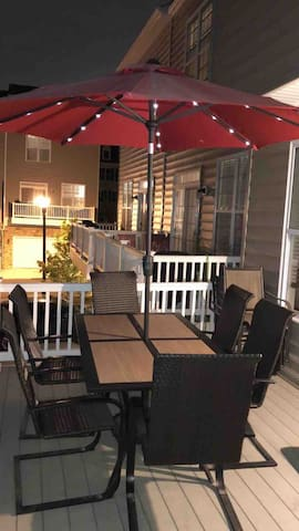 Patio. You can relax here with a glass of wine or a cold beer, water,  juice or just relax to unwind after an enjoyable sightseeing day