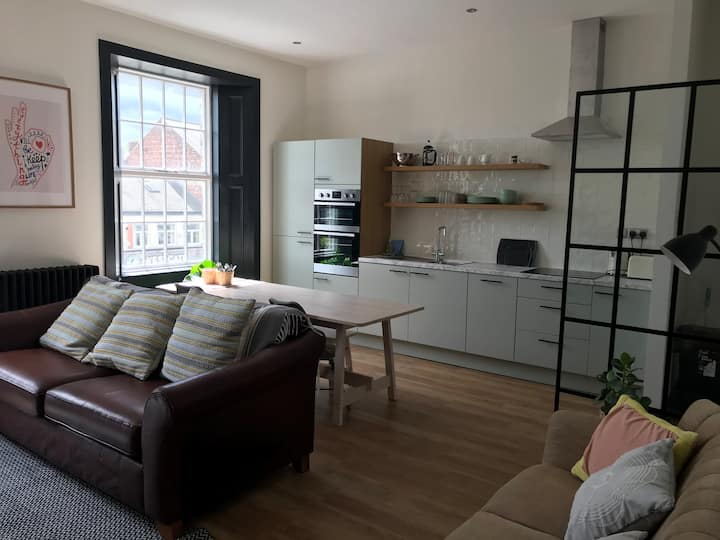 Large two-bed city centre apartment