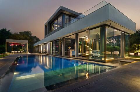 Glass House 91... 7 star Luxury Villa at Mandwa