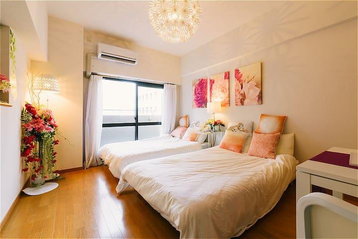 Elegant Apartment near HakataSTA Easy Access +WiF - Hakata-ku, Fukuoka-shi - Lägenhet
