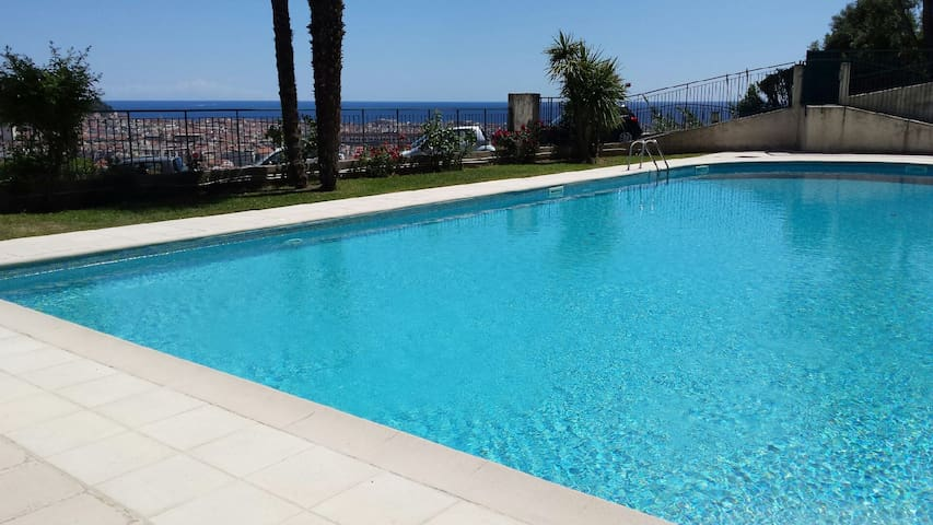 Hills of Nice - swimming Pool - Studio orchid - Nice - Lejlighed