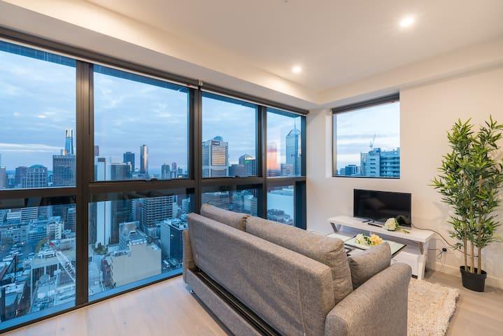Melbourne Sky View 1 Bedroom Apt@La Trobe Tower