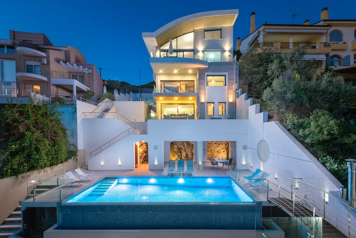 Villa Evian-Luxury Living with a Pool by the Sea