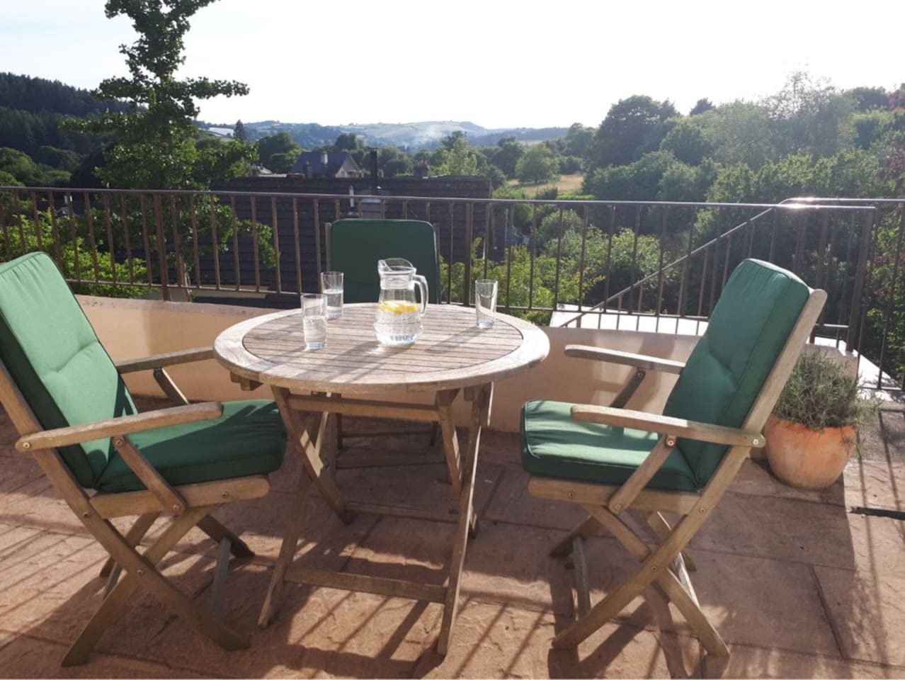 Beautiful view for an alfresco breakfast in tranquil surroundings