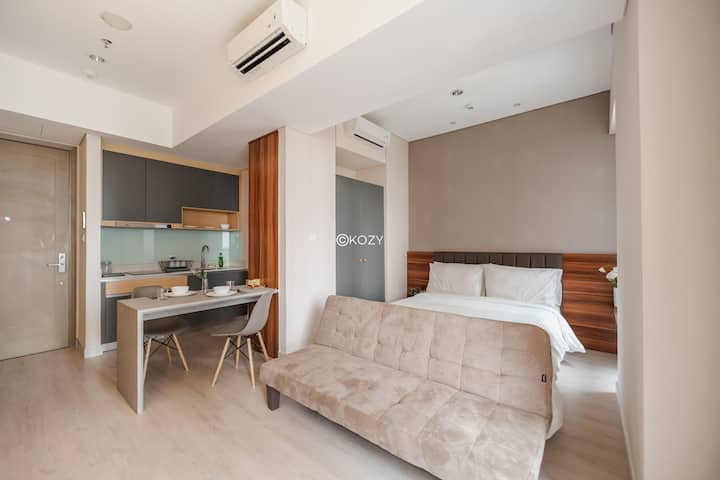 Cozy and Modern 1BR Flat with Wonderful Pool View