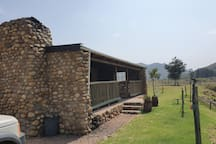 Front porch with braai area and seating area
