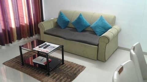 Higher Floor AC 2 Bedroom apartment with Caretaker