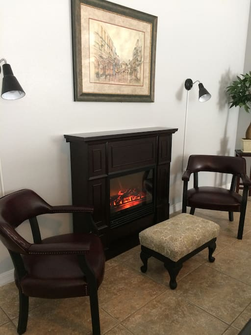 Electric Fireplace in L/R Reading Area