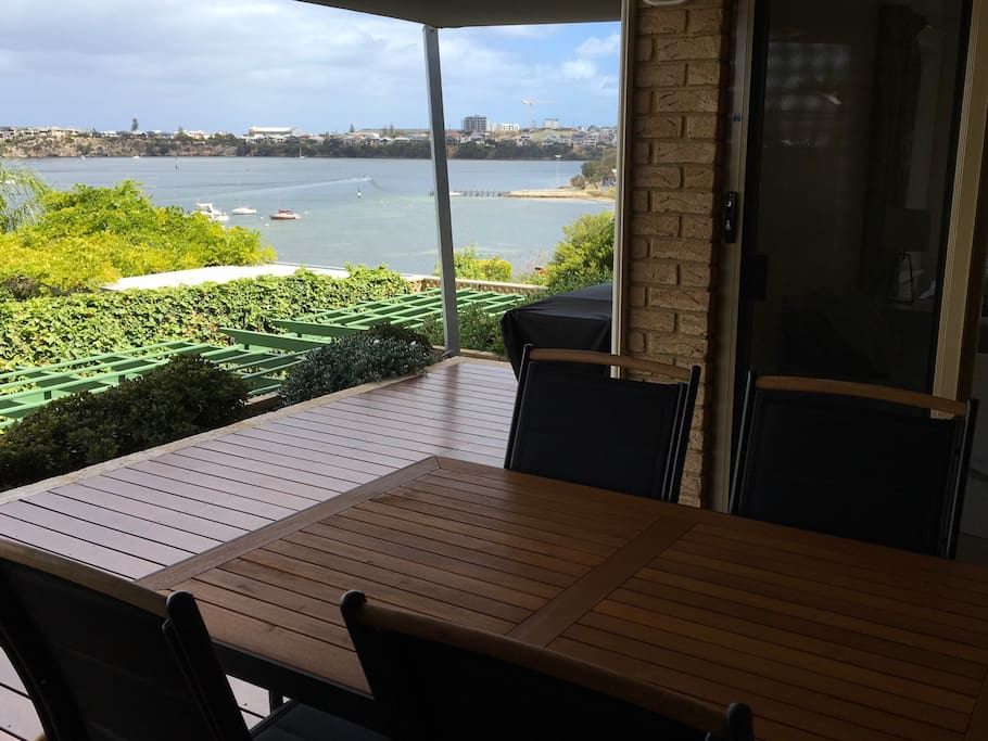 Deck has BBQ & outdoor dining option, with direct access from living space & bedrooms 1/2.