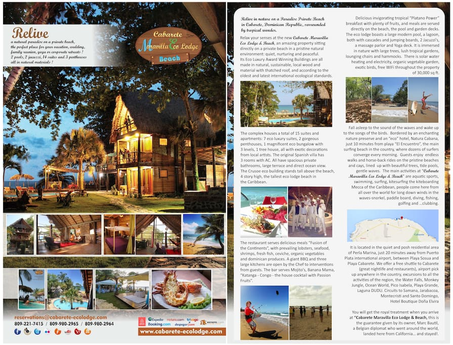 Boutique eco lodge brochure