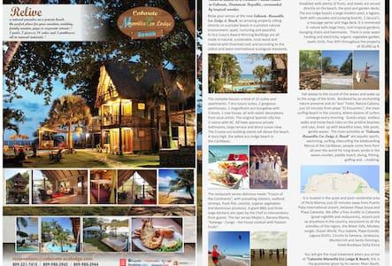 Gorgeous eco lodge on private beach - Cabarete