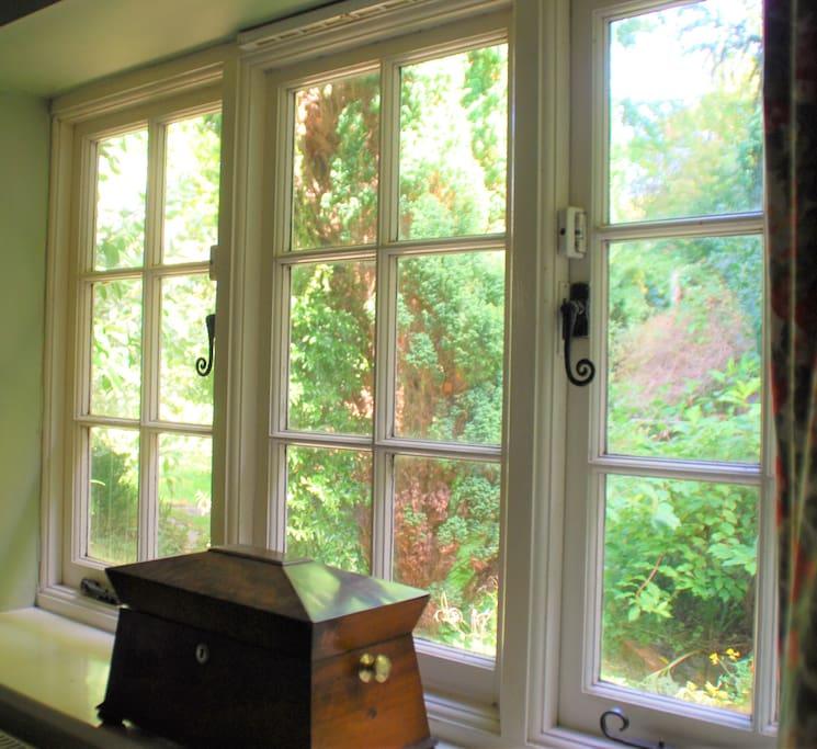 Views into the private garden