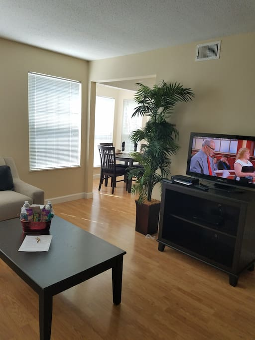 Furnished Living & Dining Room