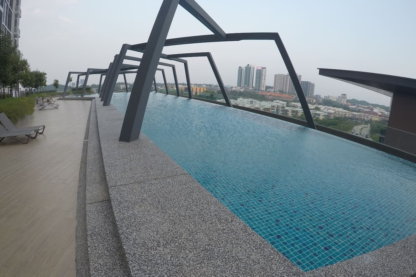 The pool at level 8