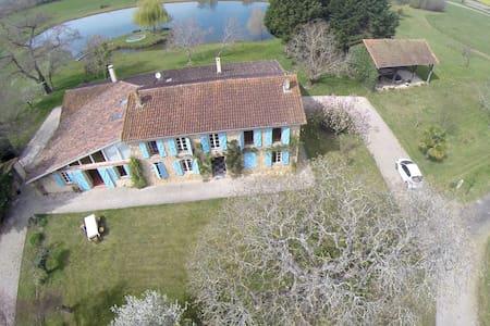 Grande bâtisse en pierre avec étang - Aignan - Talo