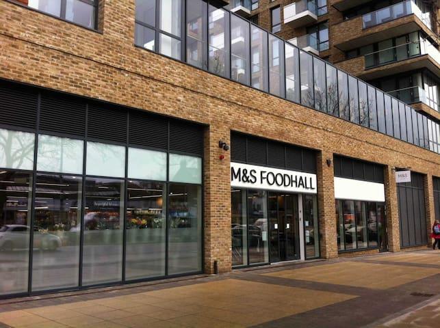 Marks and Spencer Supermarket 1min walk from building entrance