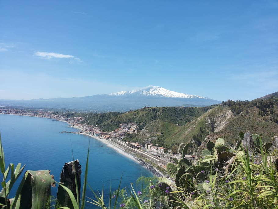 Amazing view from Taormina, only 20 km far from the house