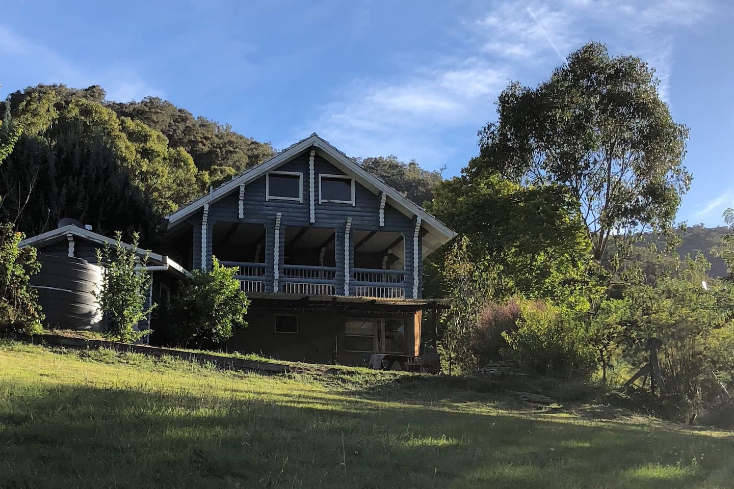 The Blue House on Micalong Creek