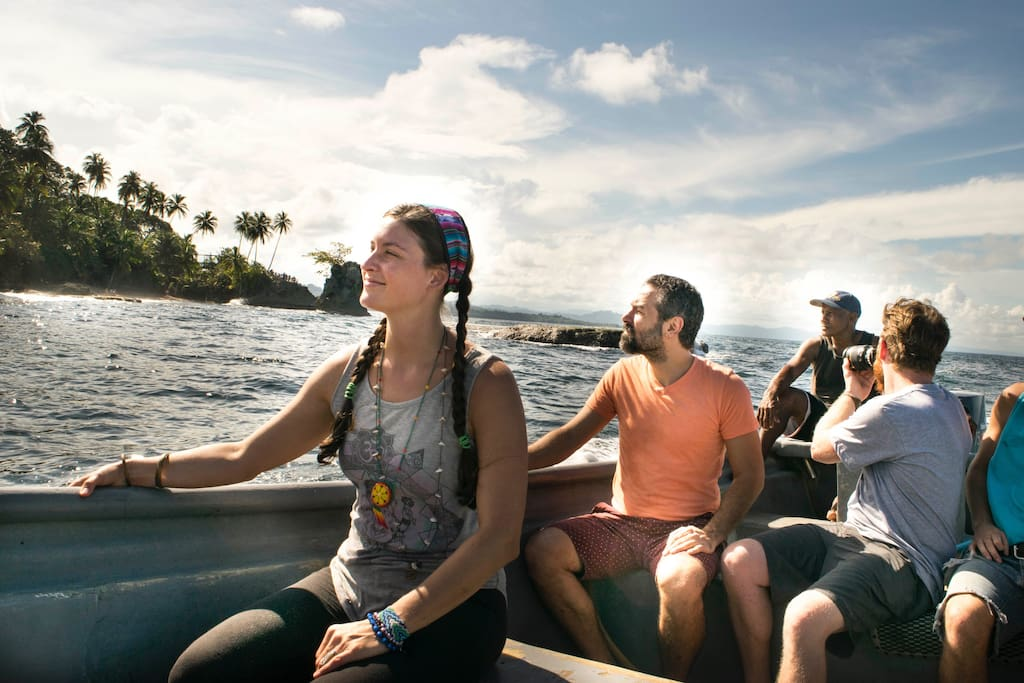 The boat ride to Punta Mona is sure to be memorable