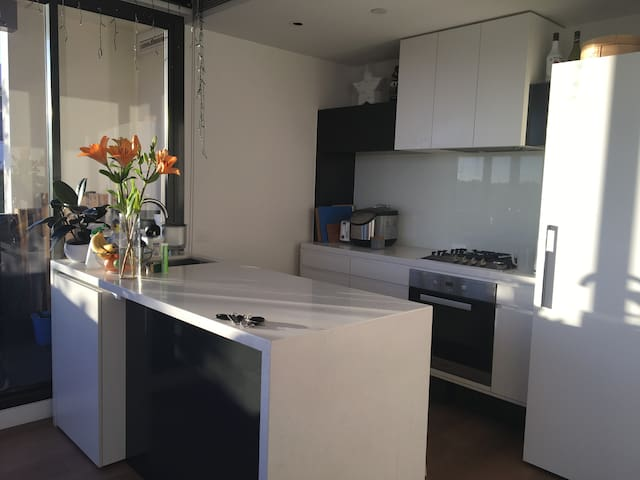 Light filled spacious apartment close to the city - South Yarra - Apartemen