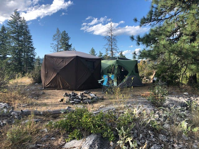 Ravens Crest single & group camping beautiful view