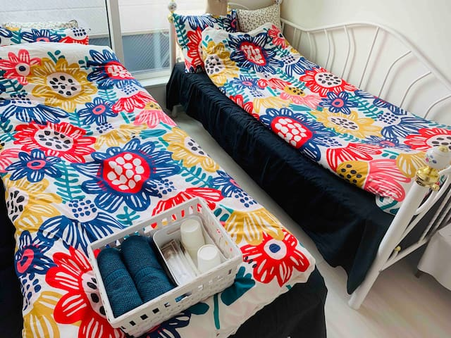 三楼标准双人间  单人床x2